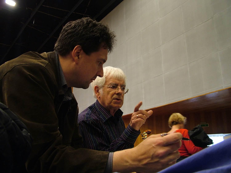 Klaus Breuninger mit Helmuth Rilling