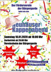 Neuhausen - Kappenabend @ Vereinsheim der Bürgergarde   Neuhausen   Baden-Württemberg   Deutschland