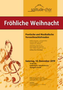 Solitude-Chor - Weihnachtskonzert 2019 @ Salvatorkirche, Giebel
